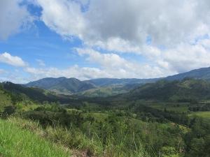 Blick auf die Berge um Malaybalay