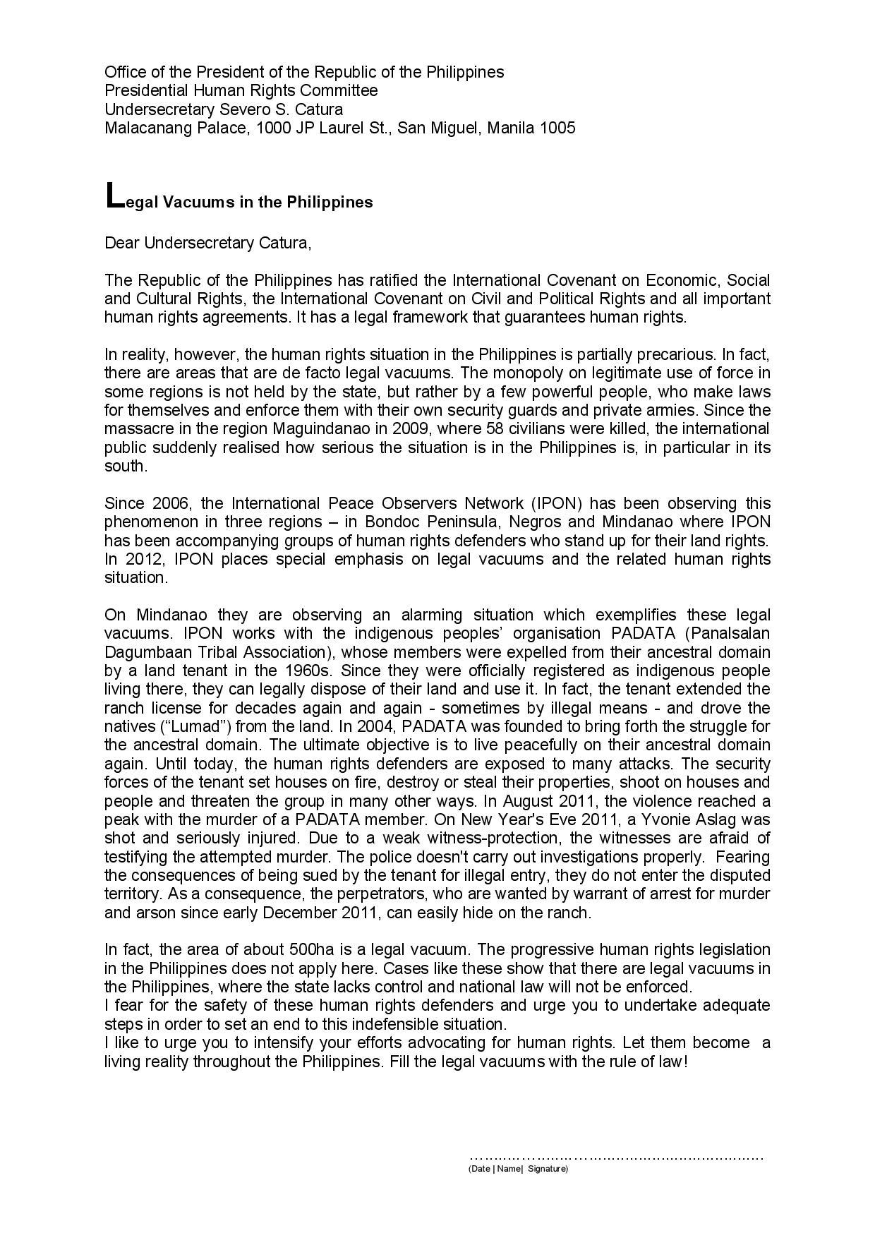 Team Mindanao   Human Rights Observation in Mindanao, Philippines