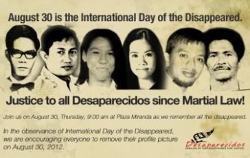 Eine Internetkampagne zum Thema Verschwindenlassen in den Philippinen