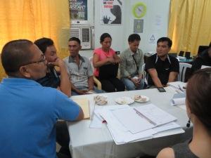 MRV, Mitglieder von NGOs und staatliche Akteure im Gespräch