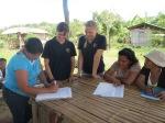 Mandatsunterzeichnung zwischen den Menschenrechtsverteidiger von PADATA und IPON